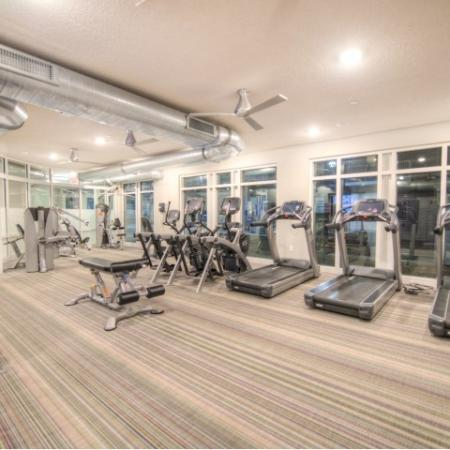 Residents Excercising at Fitness Center   Minneapolis MN Apartment For Rent   44 North