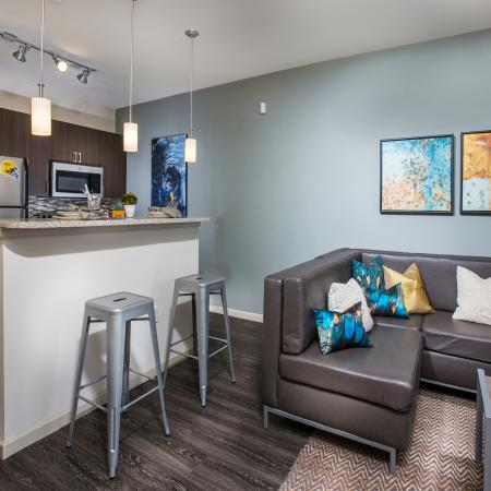 Luxurious Living Area   Apartment in Baton Rouge, LA   The Exchange at Baton Rouge