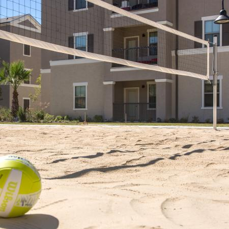 Sand Volleyball Court | Baton Rouge LA Apartments For Rent | The Exchange at Baton Rouge