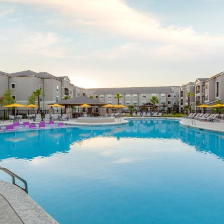 Sparkling Pool   Apartments for rent in Baton Rouge, LA   The Exchange at Baton Rouge
