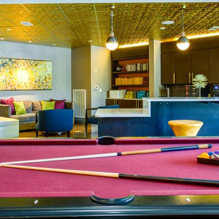 Resident Billiards Table | Apartments Nashville, TN | The Cadence