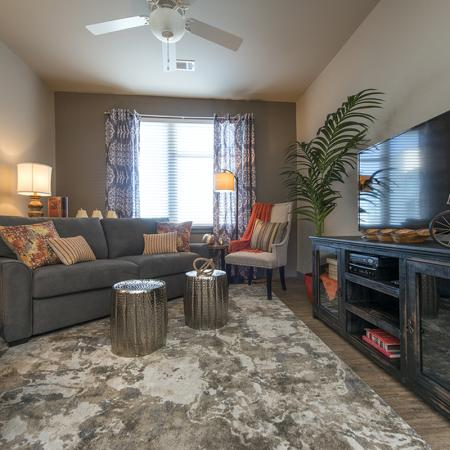 Residents Lounging in the Living Room | Nashville TN Apartments For Rent | The Cadence