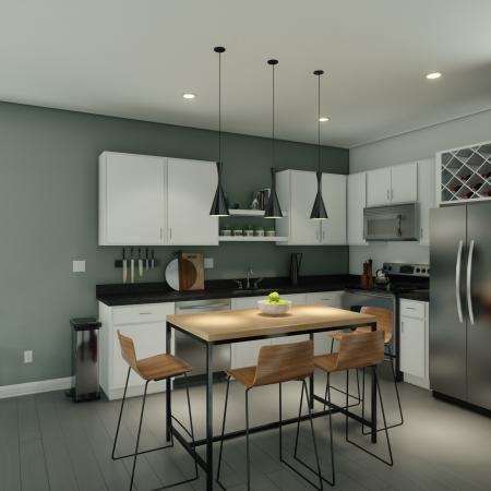 Modern Kitchen | Columbia SC Apartment For Rent | Reign Living at the Stadium