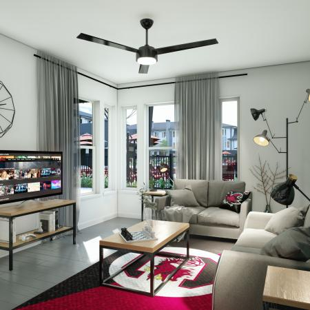 Luxurious Living Room | Apartment Homes in Columbia, SC | Reign Living at the Stadium