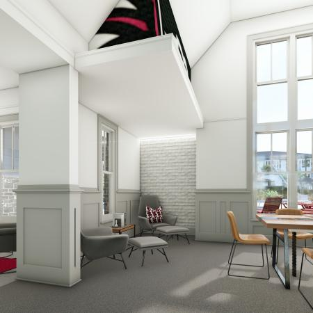Resident Study Lounge | Apartment Homes in Columbia, SC | Reign Living at the Stadium