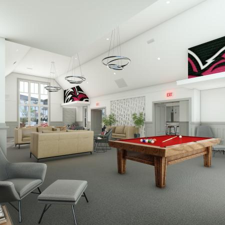 Resident Game Room | Apartments in Columbia, SC | Reign Living at the Stadium