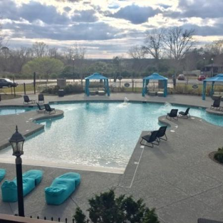 Sparkling Pool | Apartments for rent in Milledgeville, GA | Bellamy Milledgeville