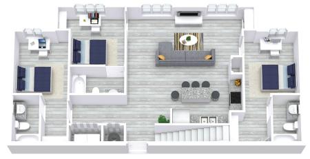 5x5 Townhome