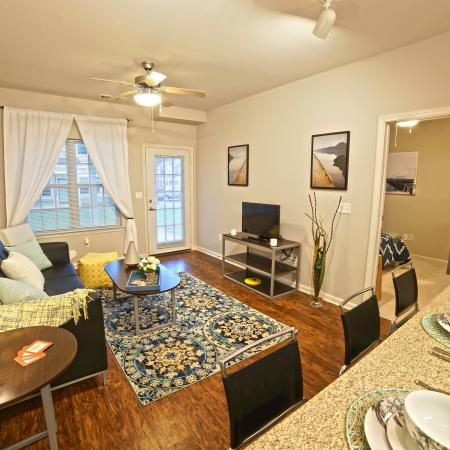 Spacious Living Room | Apartments in Durham, NH | The Lodges at West Edge