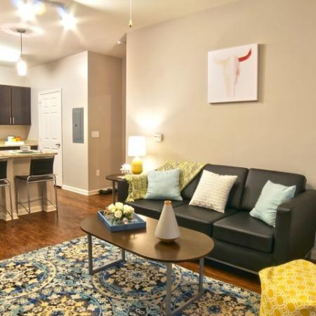 Luxurious Living Room | Apartment Homes in Durham, NH | The Lodges at West Edge