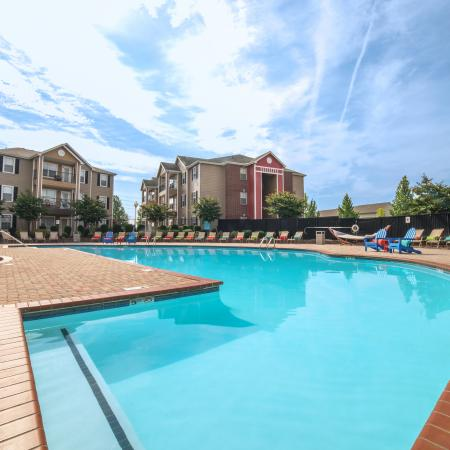 Residents Tanning by the Pool | Chicago IL Apartments | Student Quarters Murfreesboro - Rutherford