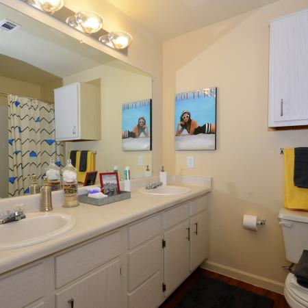 Residents in the Bathroom | Apartment Homes in Chicago, IL | Student Quarters Murfreesboro - Rutherford