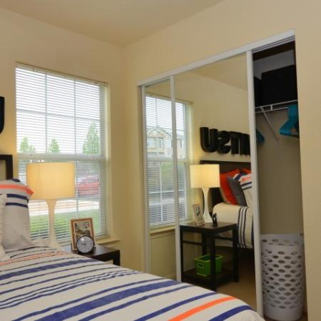 Closet Storage Space | Apartments in Chicago, IL | Student Quarters Murfreesboro - Rutherford