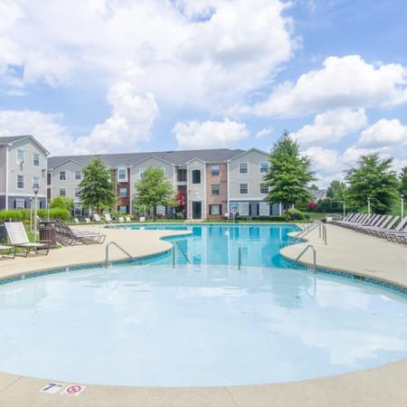 Sparkling Pool | Apartments for rent in Murfreesboro, TN | The Pointe at Raiders Campus
