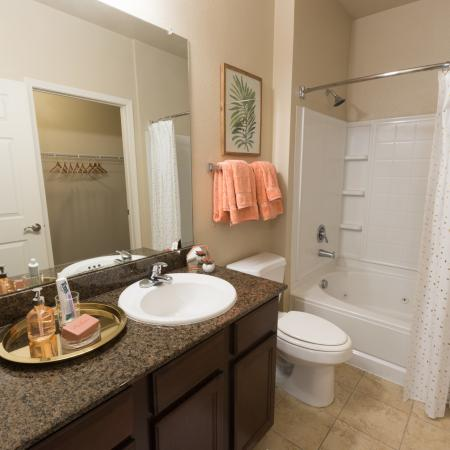 Spacious Bathroom | College Station TX Apartment For Rent | Parkway Place
