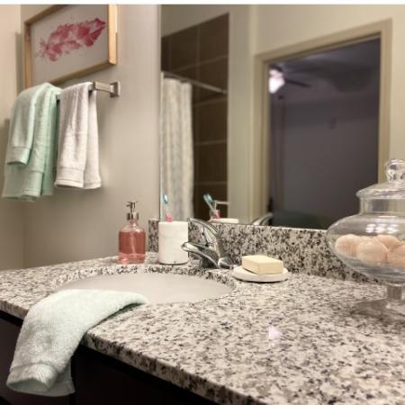 Elegant Bathroom | Apartments in Tuscaloosa, AL | Riverfront Village