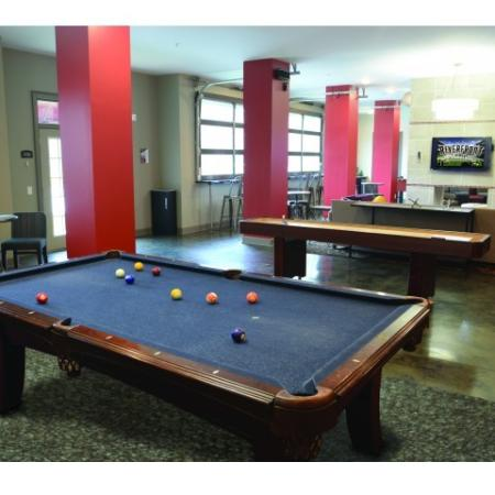 Resident Pool Table | Apartment in Tuscaloosa, AL | Riverfront Village