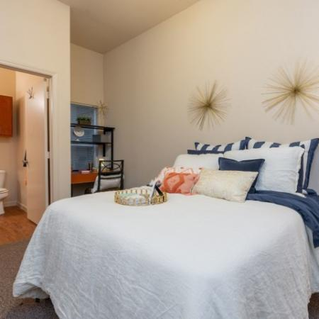 Elegant Bedroom | Normal IL Apartment For Rent | The Edge on Hovey