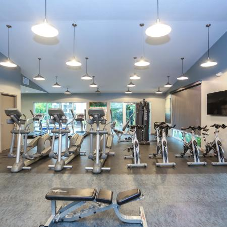 State-of-the-Art Fitness Center | Apartment Homes in Lawrence, KS | The Rockland