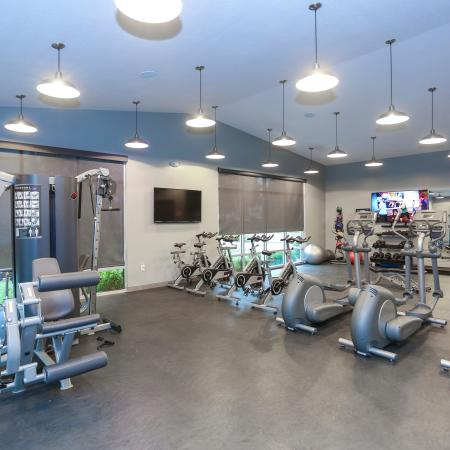Resident Fitness Center | Apartments Lawrence, KS | The Rockland