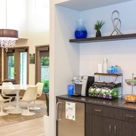 Resident Coffee Bar | Apartments in Lawrence, KS | The Rockland