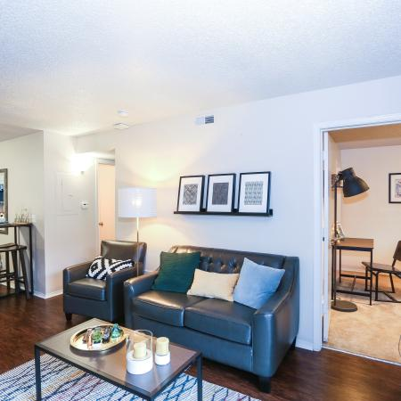 Luxurious Living Room | Apartment Homes in Lawrence, KS | The Rockland