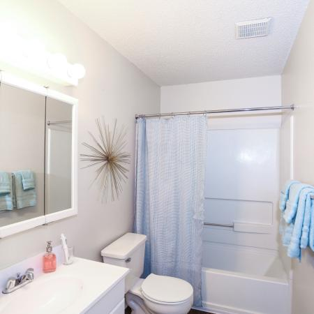 Spacious Bathroom | Lawrence KS Apartment For Rent | The Rockland