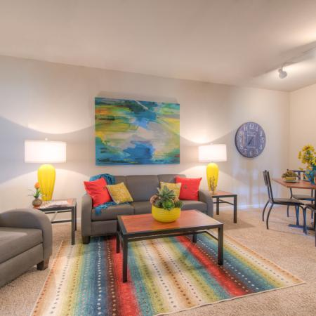 Spacious Living Room | Apartments in College Station, TX | Gateway at College Station