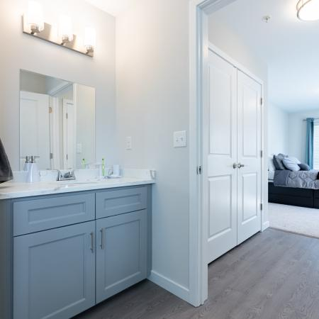 Spacious Master Bathroom | Apartments Homes for rent in Mansfield Center, CT | Meadowbrook Gardens