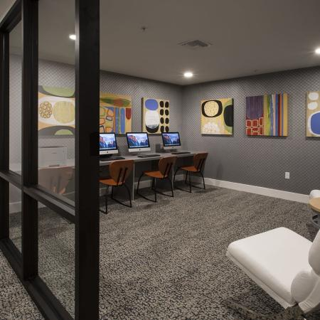 Resident Business Center   San Jose CA Apartment For Rent   27 North