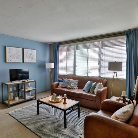 Spacious Living Room | Apartments in Los Angeles, CA | University Gateway