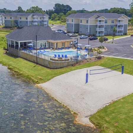 Resident Volleyball Court   Spartanburg SC Apartments   Valley Falls