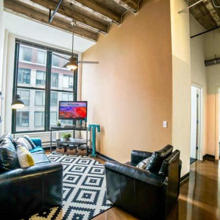 Spacious Living Room   Apartments in Chicago, IL   Tailor Lofts