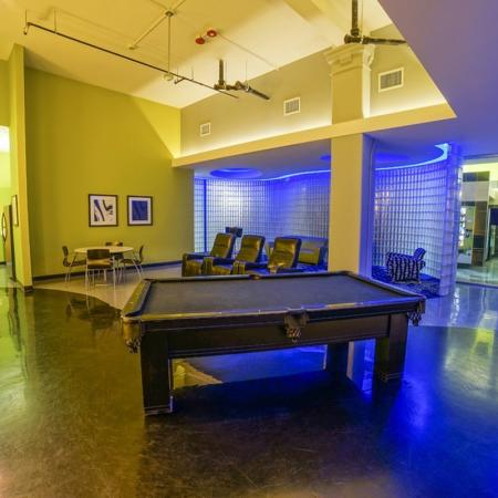 Community Game Room | Apartments for rent in Chicago, IL | Tailor Lofts