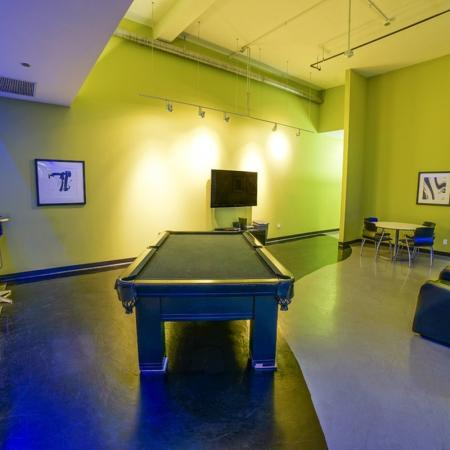 Resident Billiards Table | Apartments Chicago, IL | Tailor Lofts