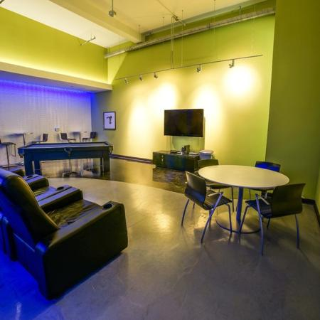 Residents Playing Billiards | Apartments Homes for rent in Chicago, IL | Tailor Lofts