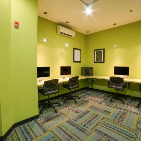 Residents Utilizing Business Center | Apartments for rent in Chicago, IL | Tailor Lofts