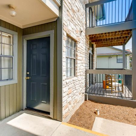 Spacious Porch Area | San Marcos TX Apartments | The Timbers