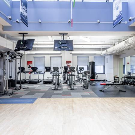 Residents Excercising at Fitness Center | Chicago IL Apartment For Rent | The Buckingham