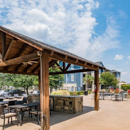 Community BBQ Grills | Denton TX Apartment For Rent | Castlerock at Denton