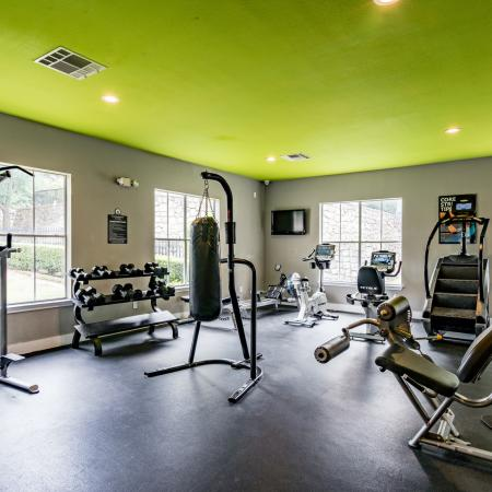 24-hour Fitness Center | Denton TX Apartments | Castlerock at Denton