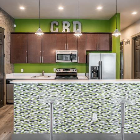 Elegant Community Kitchen | Denton TX Apartments | Castlerock at Denton