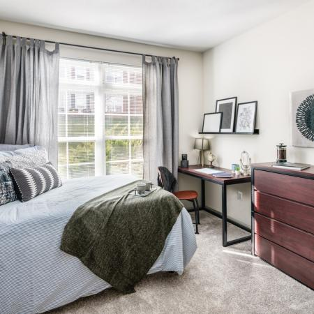 Spacious Bedroom | Athens OH Apartment Homes | The Summit at Coates Run