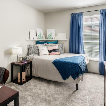 Elegant Bedroom | Athens OH Apartment For Rent | The Summit at Coates Run