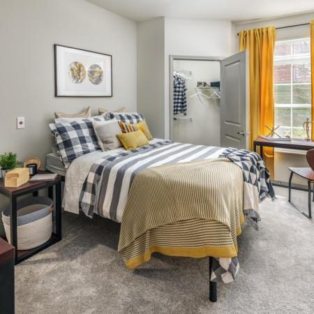 Luxurious Bedroom | Apartments in Athens, OH | The Summit at Coates Run