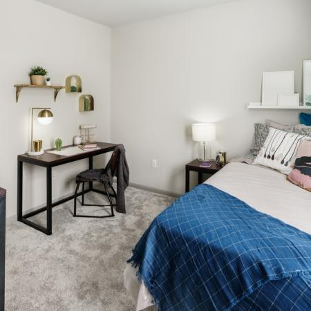 Elegant Bedroom | Athens OH Apartments | The Summit at Coates Run