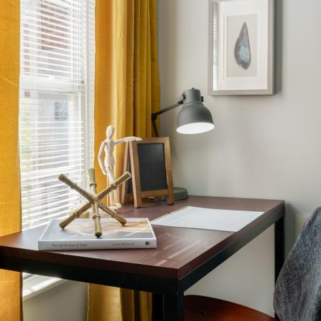 Bedroom Desk | Apartments for rent in Athens, OH | The Summit at Coates Run