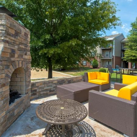 Community Outdoor Fire Place | Apartments Murfreesboro, TN | Campus Crossings