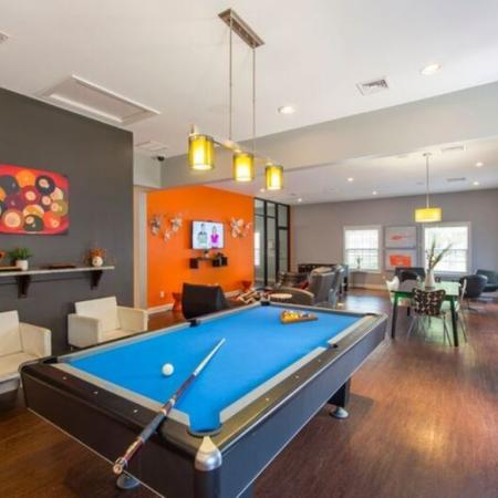 Resident Pool Table | Apartment in Murfreesboro, TN | Campus Crossings