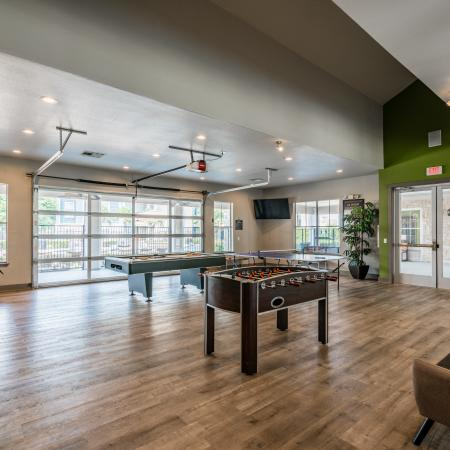 Community Game Room | Apartments for rent in Denton, TX | Castlerock at Denton